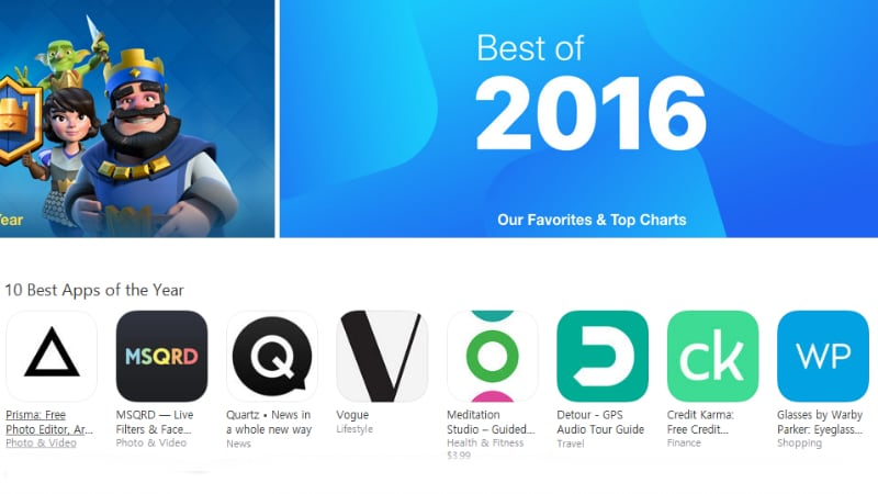 Apple Reveals 'Best of 2016' Apps, Books, Games, Movies, and TV Shows