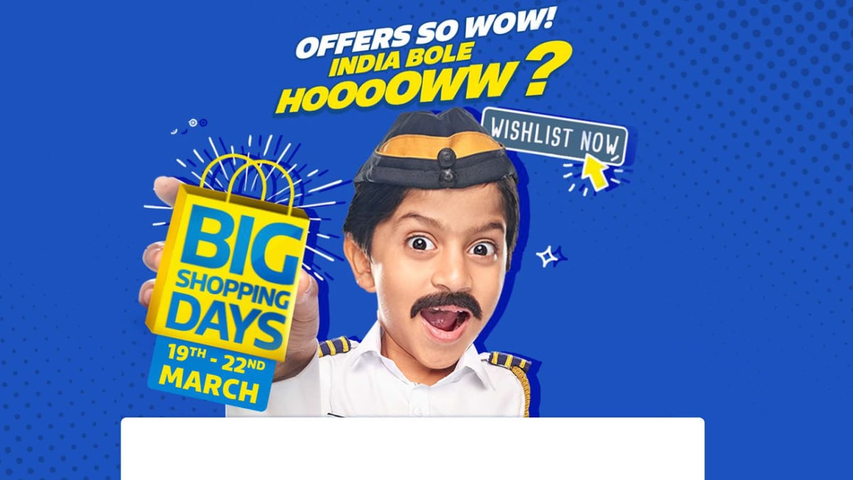 Flipkart Big Shopping Days 2020 Sale Kicks Off From March 19: All the Top Offers Revealed So Far