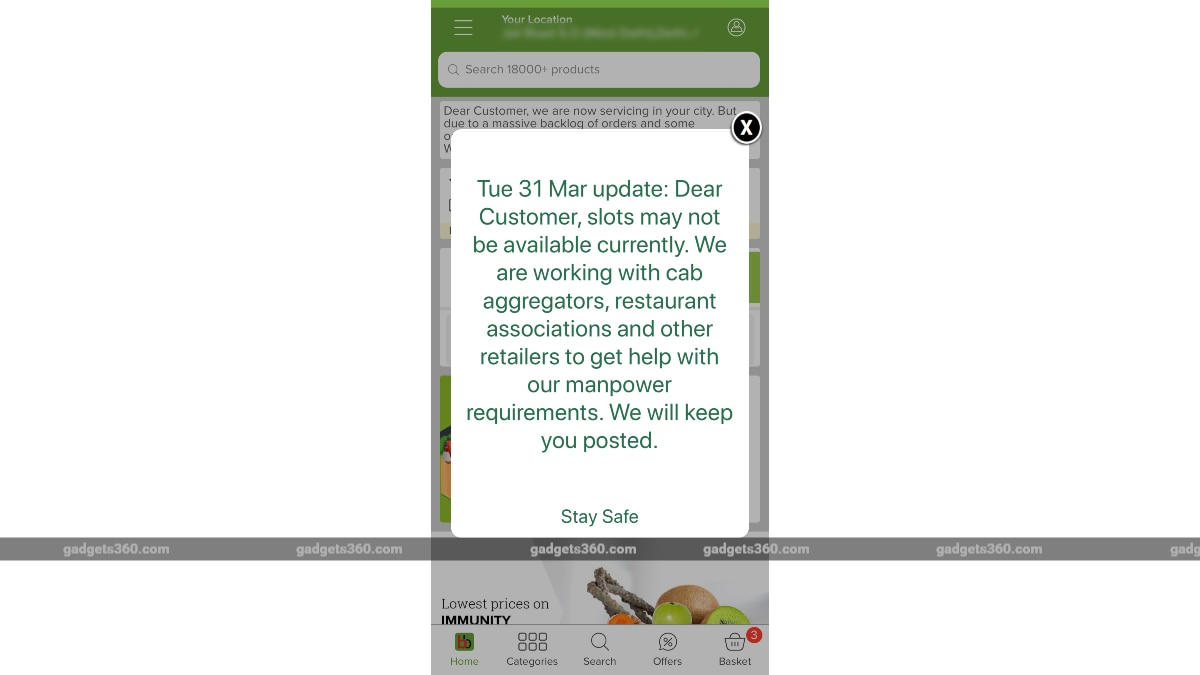bigbasket third party deliveries app gadgets 360 Bigbasket