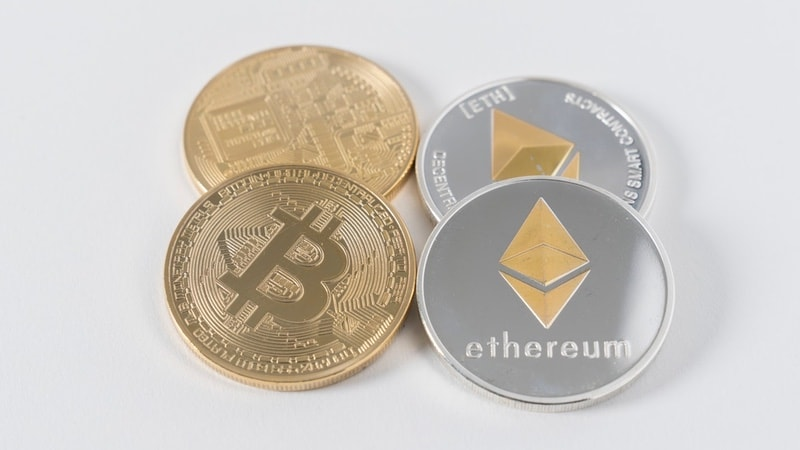 bitcoin ethereum coins unsplash Bitcoin