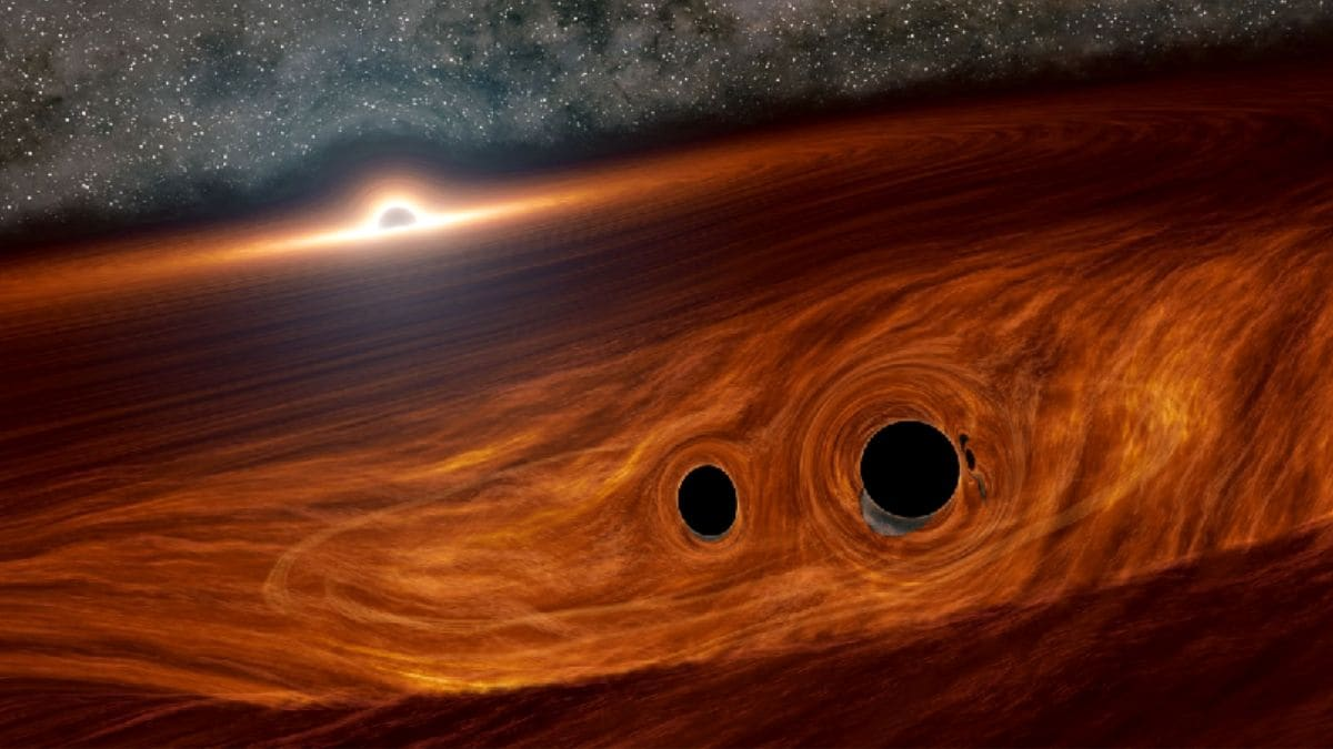 Scientists Spot Light Flare From a Black Hole Collision for the First Time Ever