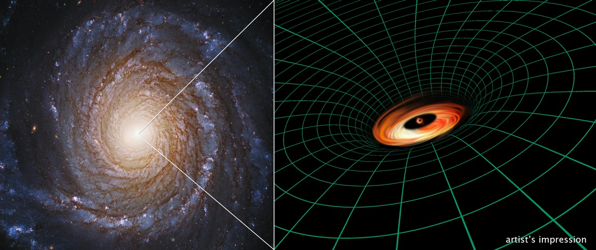 Hubble Space Telescope Finds Mysterious Black Hole Disc