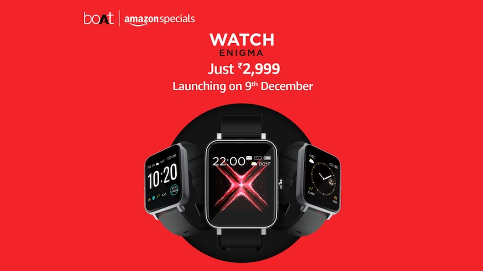 Boat Watch Enigma India Launch on December 9, Will Be Priced at Rs. 2,999
