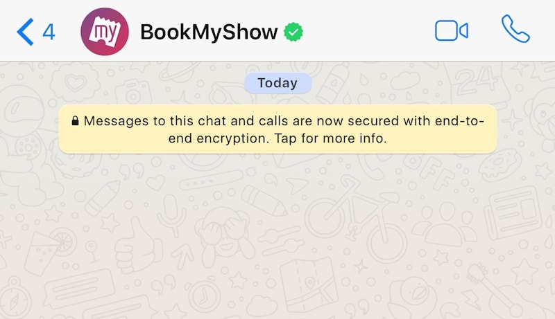 Image result for BookMyShow has been running a pilot for many months in India wherein it sends the booked ticket details over WhatsApp