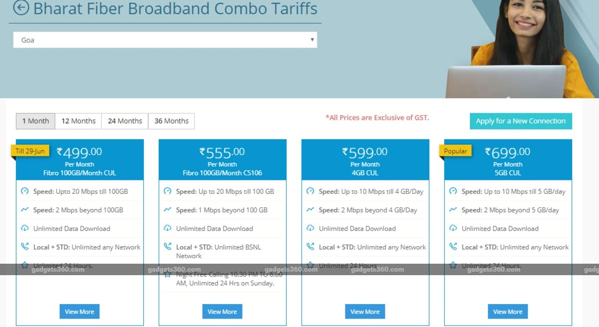 BSNL Extends Availability of Rs. 499 Bharat Fiber Plan With Up to 20Mbps Speeds