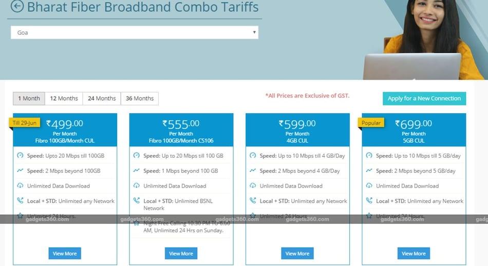 BSNL ने 499 रुपये वाले भारत फाइबर प्लान की बढ़ाई उपलब्धता