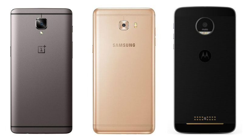 Samsung Galaxy C9 Pro vs Moto Z vs OnePlus 3T: Which One Should You Buy?