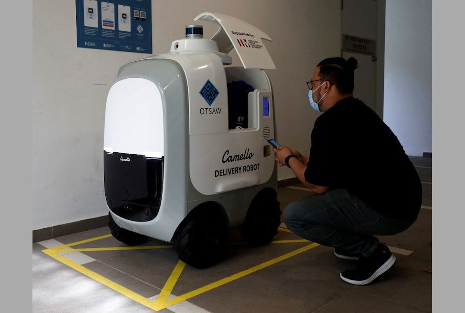 Run Out of Milk? Robots on Call for Singapore Home Deliveries of Groceries