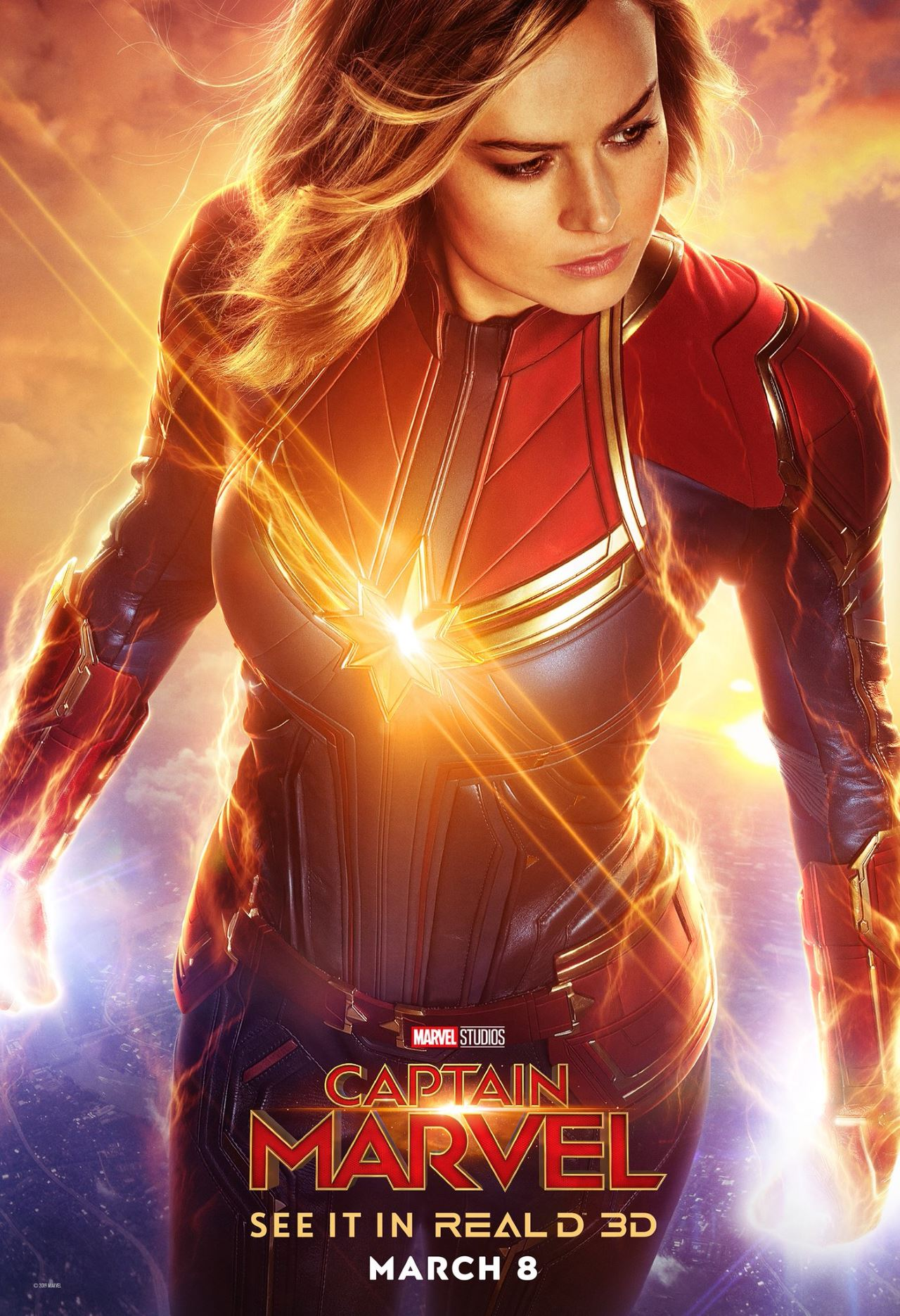 captain marvel poster real d 3d Captain Marvel