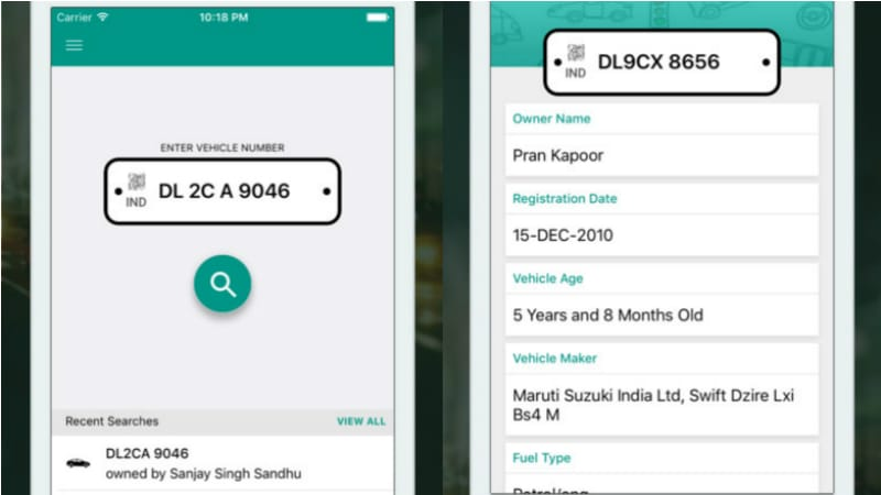 This App Helps You Find Vehicle Registration Details With Just One - Car pro show phone number