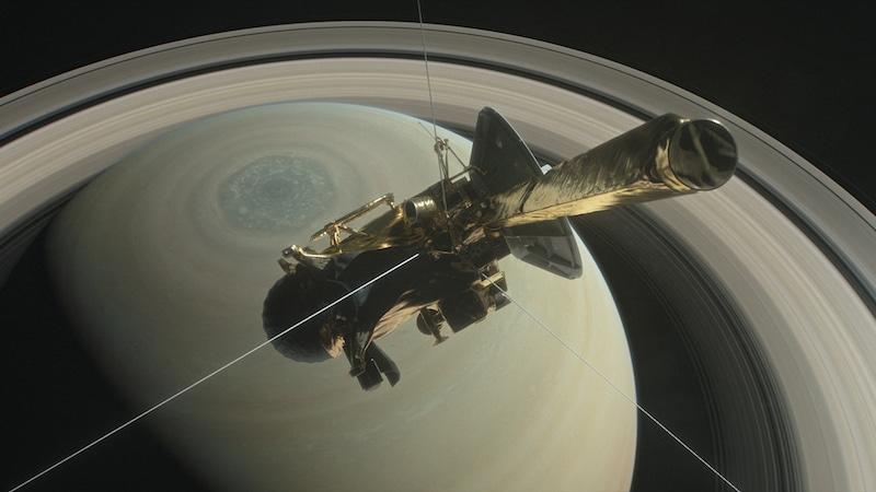NASA's Cassini Spacecraft Plunges Beneath Saturn's Rings