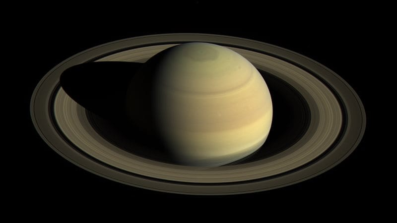 Cassini Spacecraft Saturn Orbit