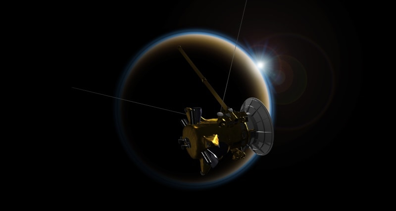 NASA's Cassini Probe Set for Final Close Flyby of Saturn Moon Titan on Friday