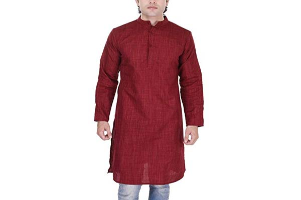 best casual kurta for men in india Black Mirror Men's Art Silk Kurta