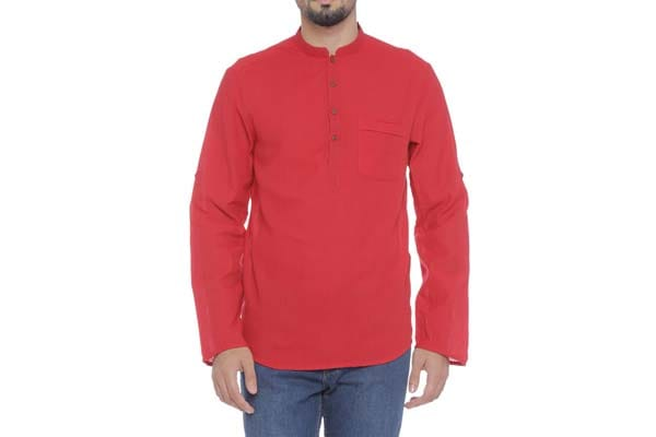 best casual kurta for men in india Indus Route by Pantaloons Men's Kurta - Red