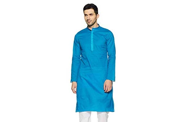 best casual kurta for men in india Manyavar Men's Blended Kurta & Pyjama Set