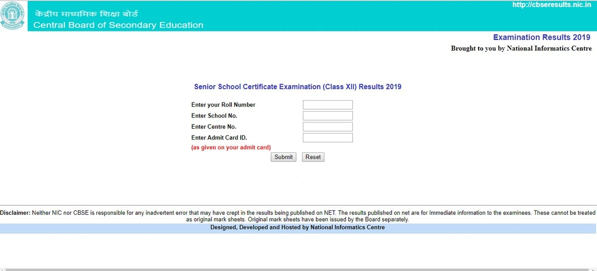 Cbseresults nic in Updated With 2019 Class 12 Results: How to Check