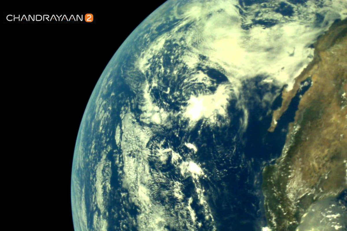 ISRO's Chandrayaan-2 Shares Its First Pictures of Earth Taken by Its LI4 Camera