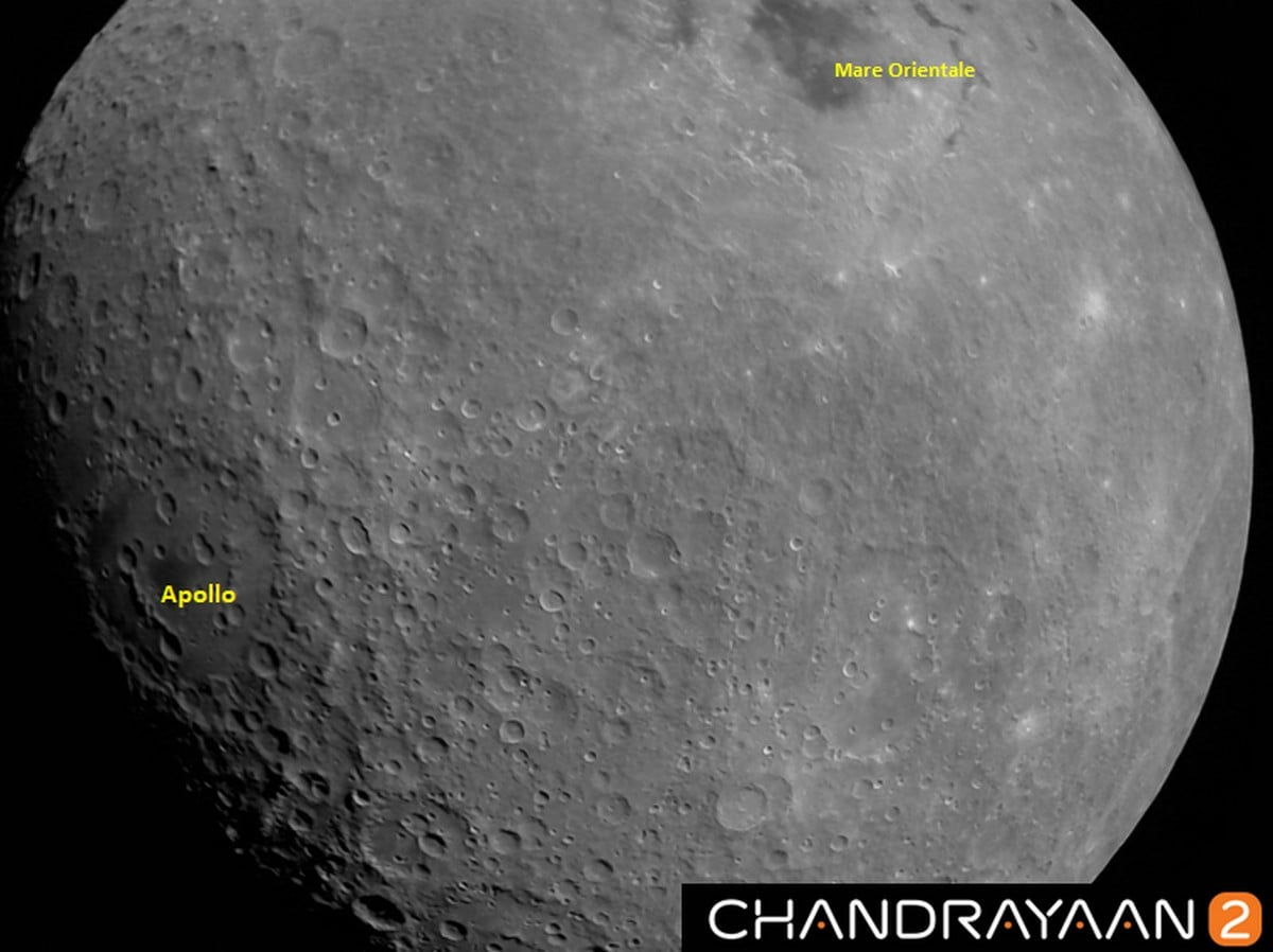 Chandrayaan-2 Captures First Image of Moon Showing Mare Orientale Basin, Apollo Craters