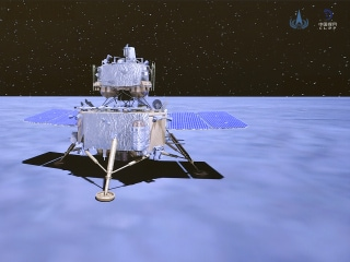 China's Chang'e 5 Probe Leaves Moon With Rock Samples for Return to Earth