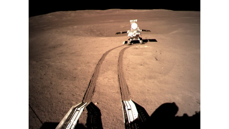 China's Chang'e-4 Lunar Rover Leaves First Ever Footprint on Moon's Far Side