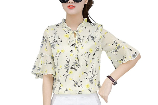 best chiffon shirts in india