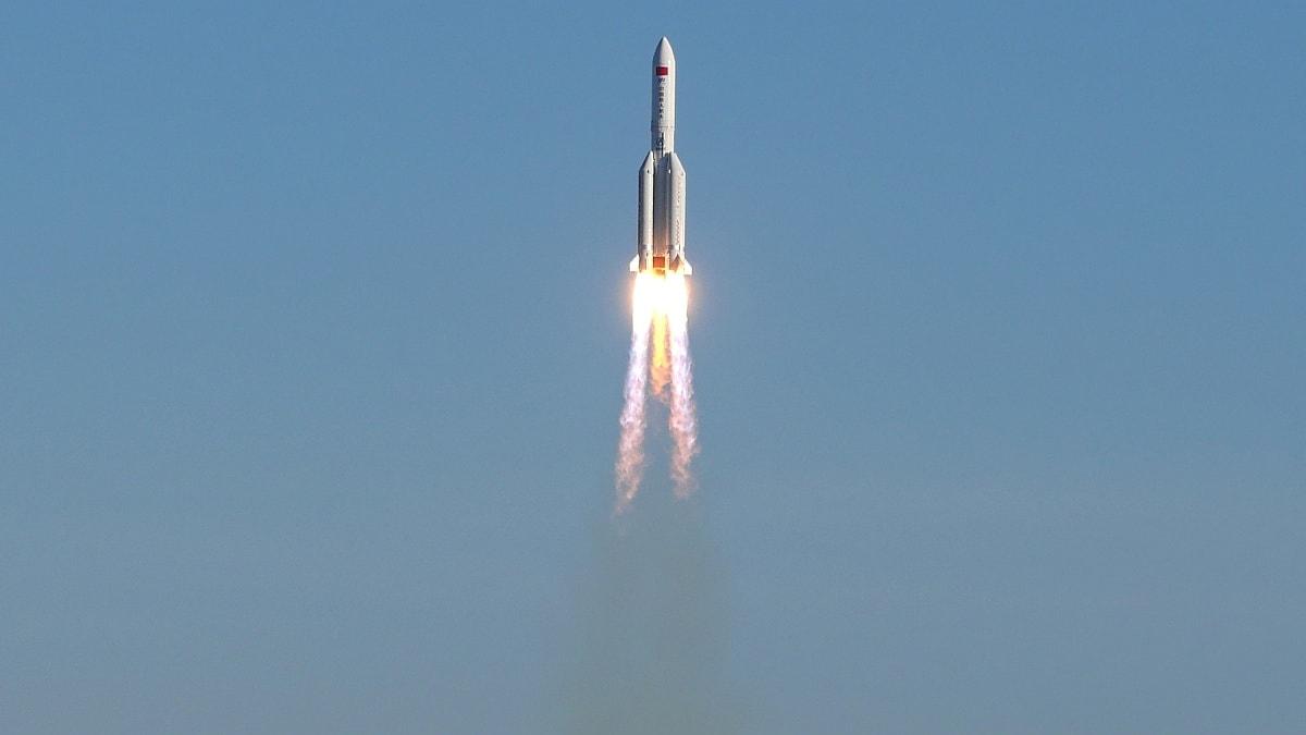 China's New Medium-Lift Rocket Long March 8 Makes Maiden Flight Carrying 5 Satellites