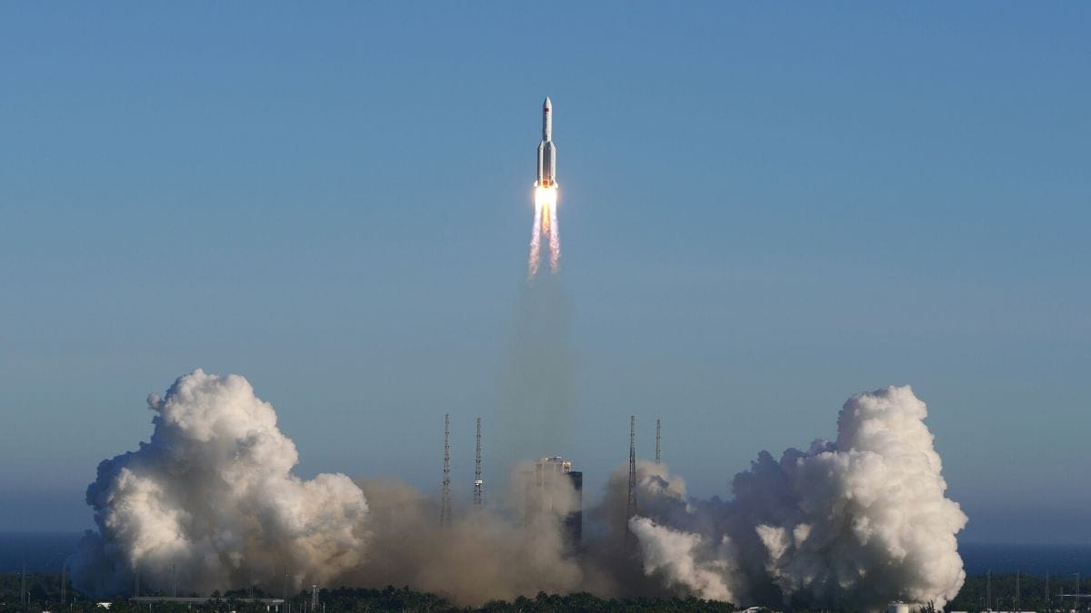 China launches spacecraft via largest carrier rocket