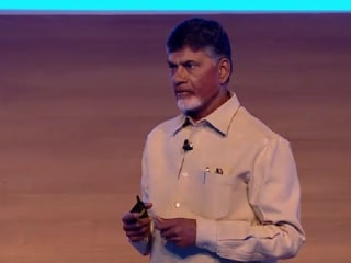 Microsoft's Satya Nadella, Andhra Pradesh CM Chandrababu Naidu Share a Vision for Digital India