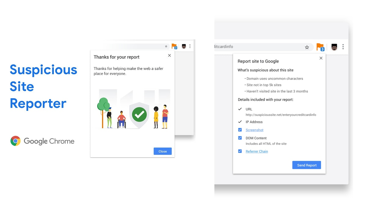 Google Launches Suspicious Site Reporter Extension, Chrome 75 Gets Deceptive URL Warning Feature