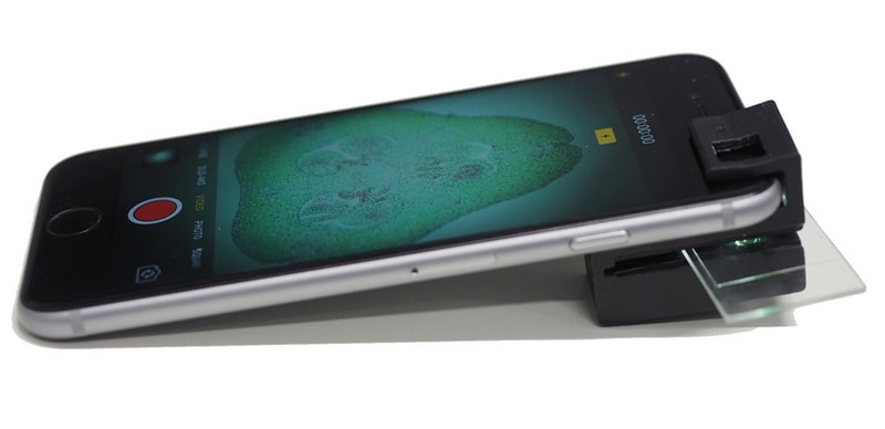 3D-Printed Clip-On Turns Smartphones Into Microscopes