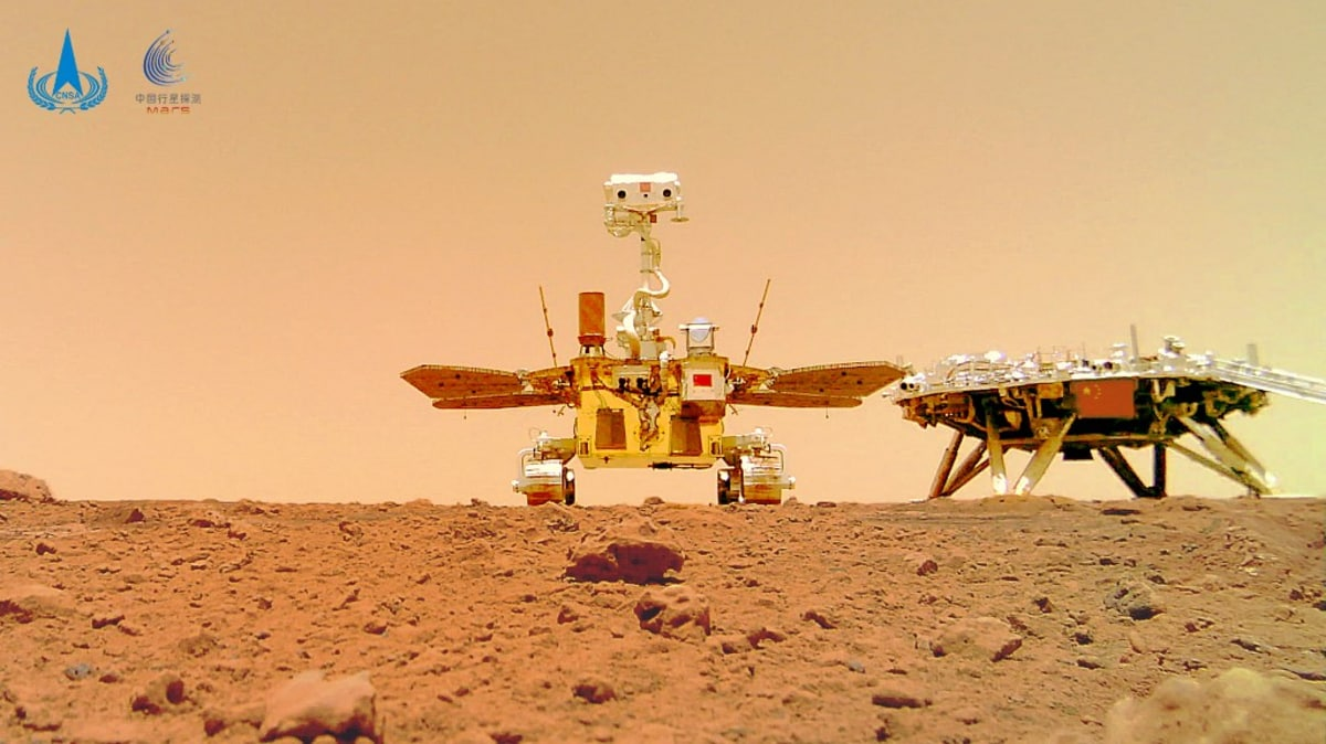 Photo of China's Mars Rover Zhurong Seen Exploring the Red Planet in First Photos