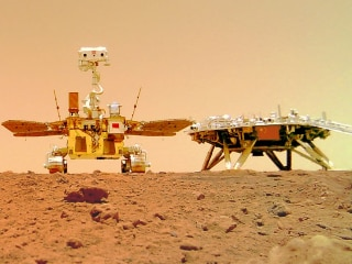 China's Mars Rover Zhurong Seen Exploring the Red Planet in First Photos