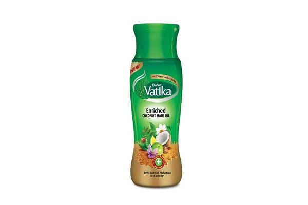 Best Organic Coconut Oils - Dabur Vatika Enriched Coconut Hair Oil, 300ml