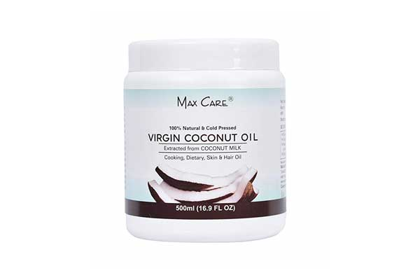 Max Care Wide Mouth Cold Pressed Virgin Coconut Oil, 500ml