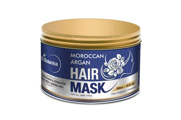 best conditioner for dry hair in india StBotanica Moroccan Argan Hair Mask - Deep Conditioning & Hydration