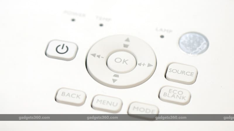 controls BenQ W0117 Projector buttons