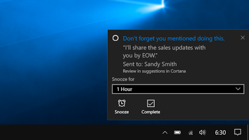Microsoft's Cortana Virtual Assistant Now Holds Users to Promises Made in Emails