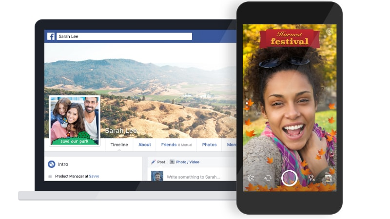 Facebook Camera Effects Platform Launched for Snapchat-Like Frames on Photos, Videos