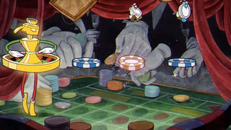 cuphead dancing roulette boss Cuphead