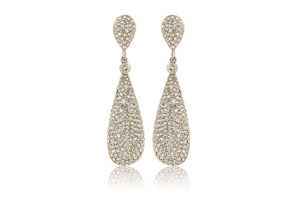 Dangler Earrings in India - Moonstruck Diamond Metal Dangle Drop Earrings