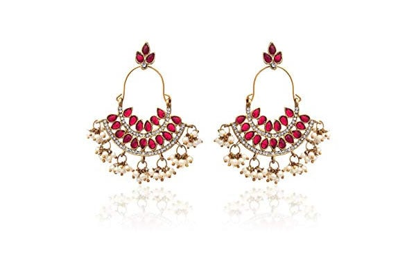 Dangler Earrings in India - Zaveri Pearls Drop Earrings for Women