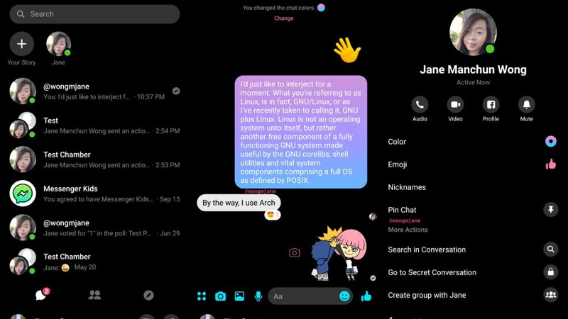 Facebook Messenger Spotted Testing Dark Mode in Select Countries