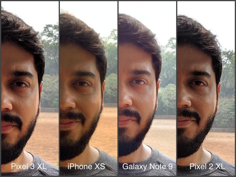 day selfie pixel 3 100 CROPS camera compare