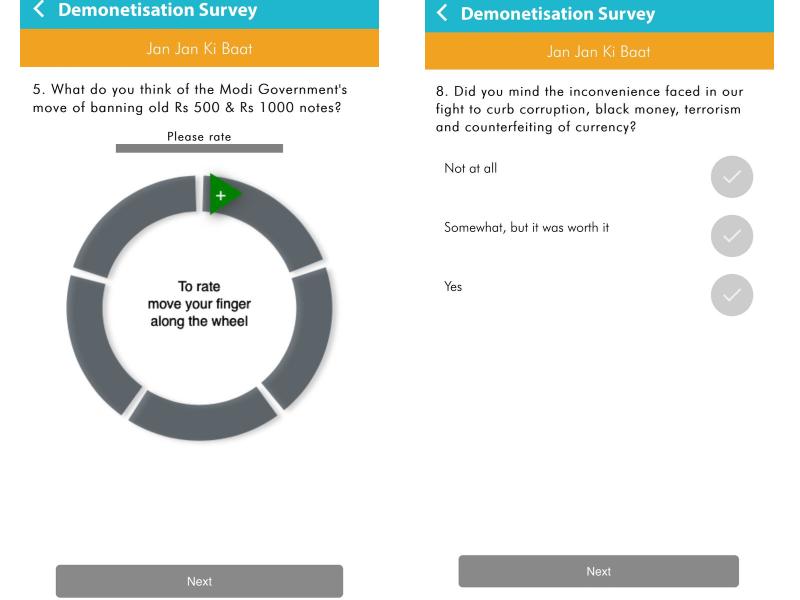 demonetisation survey modi app Demonetisation Survey