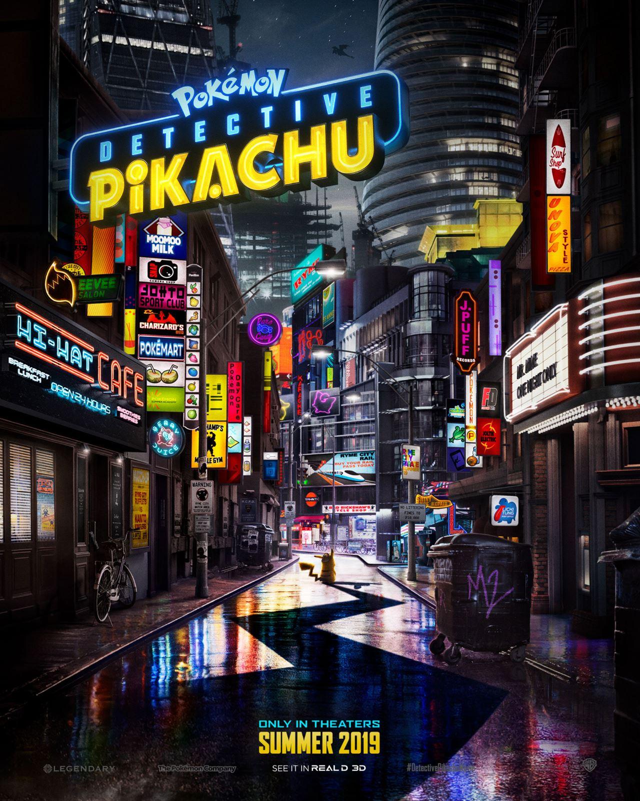 detective pikachu poster Detective Pikachu poster