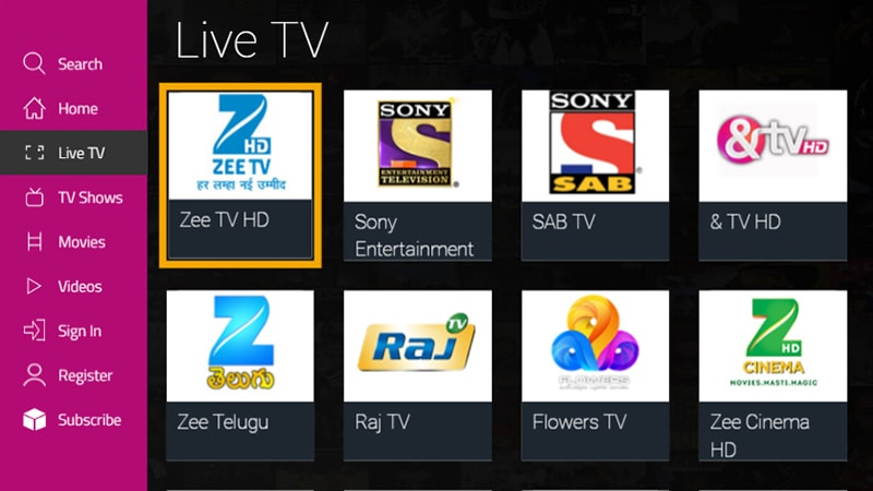 dittoTV fire TV app dittotv