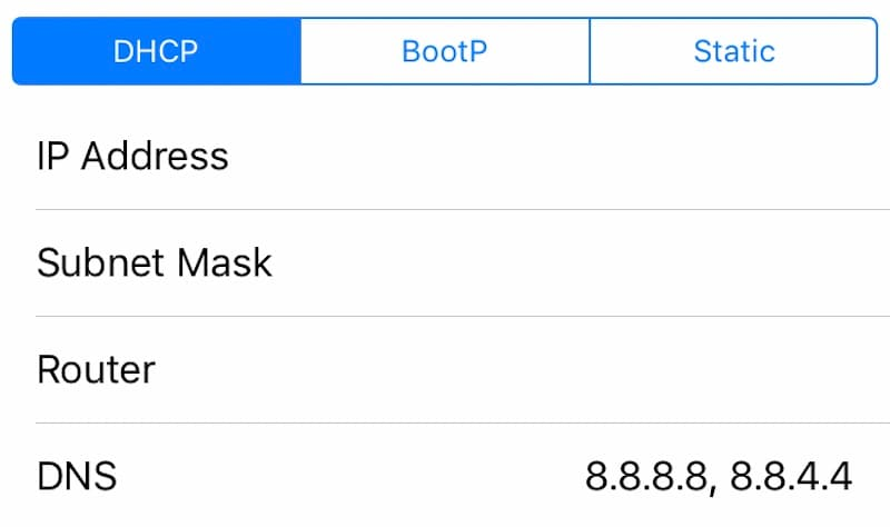 How to Change DNS Server on iPhone, iPad, or iPod touch