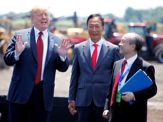Foxconn Chairman Terry Gou Meets With US President Donald Trump on Wisconsin Project