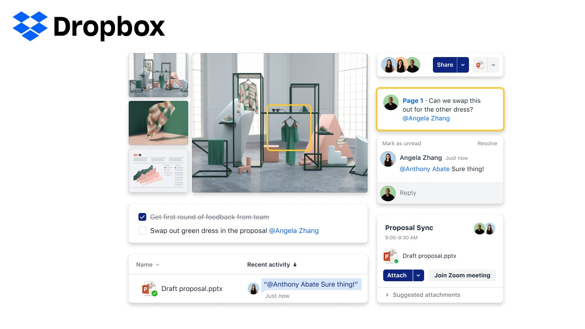 Dropbox Spaces Launched, a Collaborative Workspace With Machine Intelligence for Desktop and Mobile